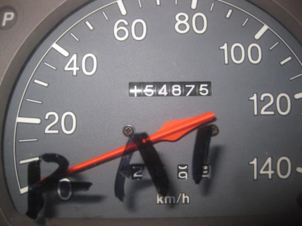 【35415】 RA1 プレオ スピードメーター  154875 km 棚7_画像2