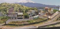 【SAZAN】Nゲージジオラマ単線レイアウトローカル線&引込駅 90x60cm★H