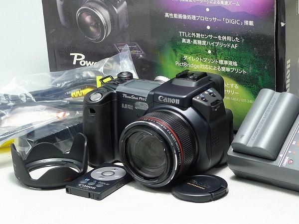 △601577△Canon/キャノン・Power ShotパワーショットPro1・PC1057・充電器リモコン等付属有/Lレンズ搭載デジタルカメラ