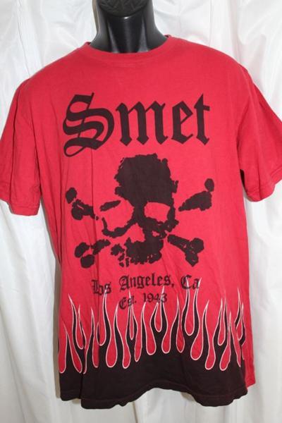 スメット SMET メンズ半袖Tシャツ Lサイズ レッド 新品 赤_画像1