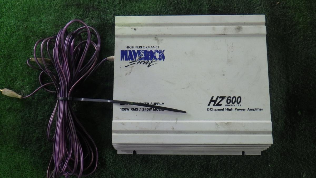 ◎MAVERICK マーヴェリック パワーアンプ HZ600 ジャンク_画像1