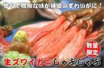 【北海道グルメマート】冷凍生ズワイガニむき身特大ポーション