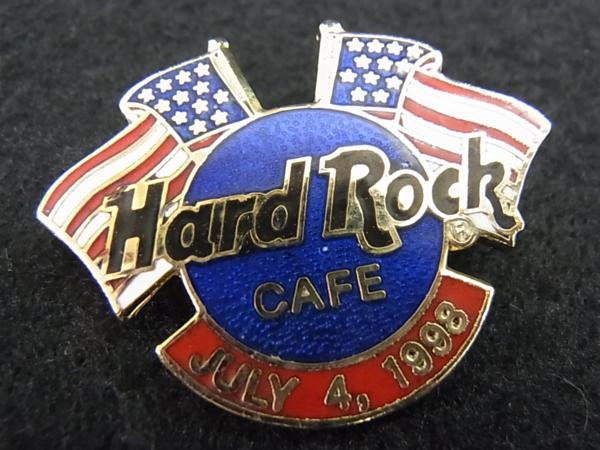 【ハードロックカフェ】○JULY 4TH アメリカ独立記念日ピン 国旗