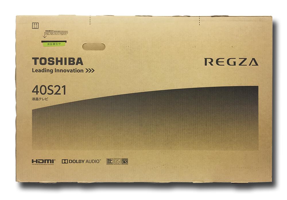 ◆◇新品同様(12/2購入)◆◇液晶テレビ 東芝 REGZA 40S21 40インチ◇◆状態確認のため開封済◇◆送料込