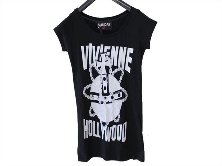 SUNDAY21 レディースオーバー半袖Tシャツ ブラックSサイズ イタリア製 新品_画像1