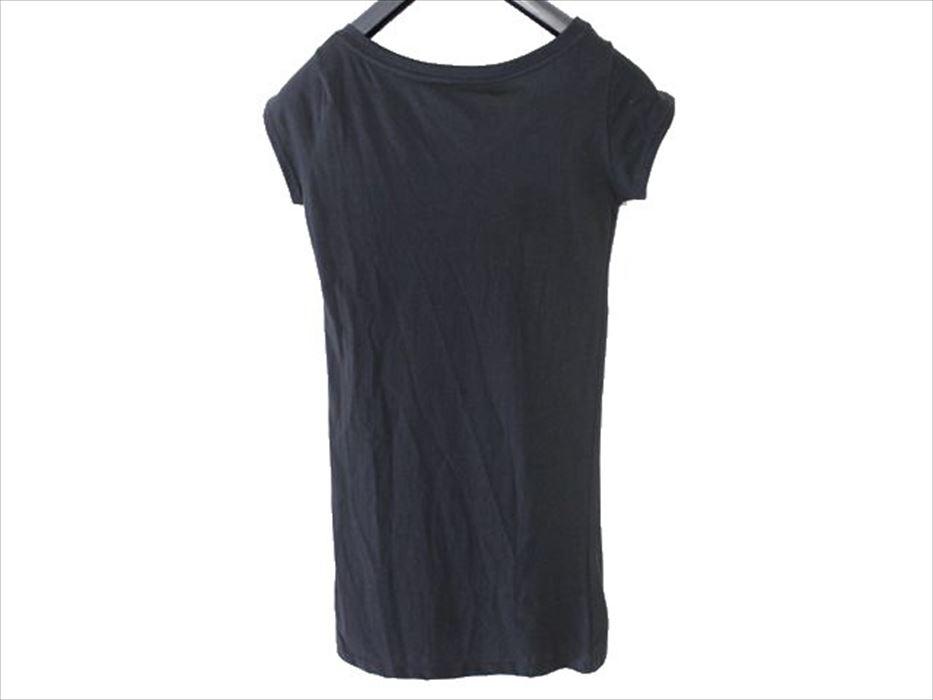 SUNDAY21 レディースオーバー半袖Tシャツ ブラックSサイズ イタリア製 新品_画像4