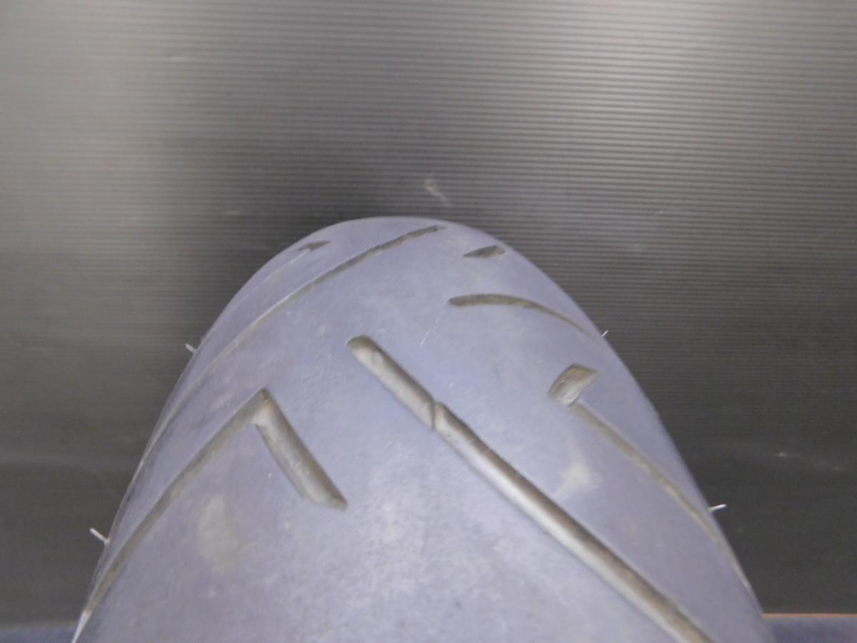 良好☆ GS400E GK54A 純正 リア ホイール J17×MT3.50DOT タイヤ山5分有!!_画像3