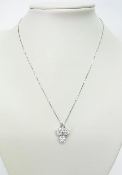 送料込みの即決価格!色んな形で使える!上質天然ダイヤモンド合計1.5ct 18金ホワイト製ペンダントネックレス 卸価格でご奉仕_画像5