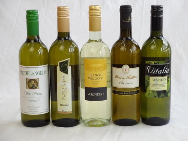 イタリア白ワイン5本セット(ヴェロネッロ ビアンコ・ミケラン_画像1