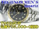 新品 TECHNOS 紳士 Quartz T9522GB 定
