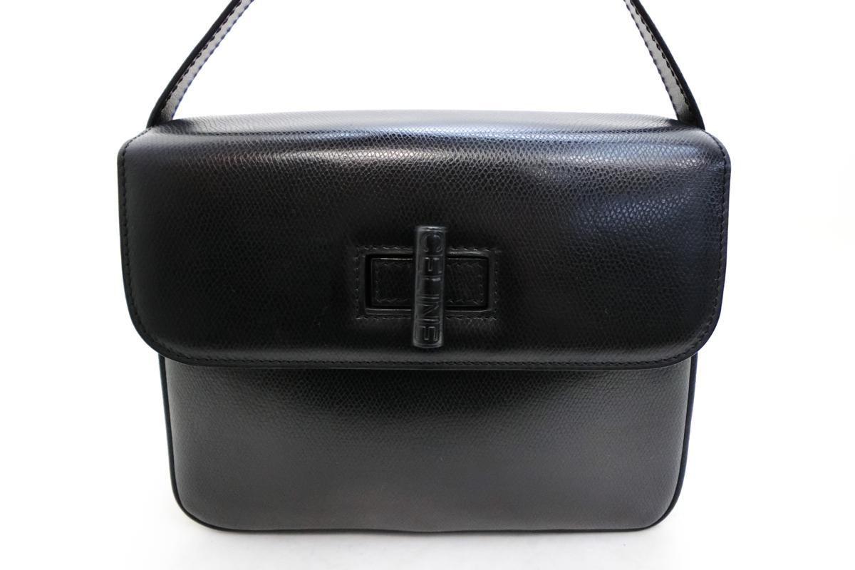 ◆S3060 CELINE セリーヌ ターン ロック金具 ヴィンテージ レザー ショルダー バッグ 美品_画像2
