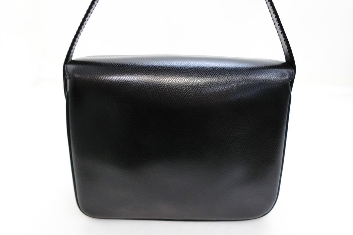 ◆S3060 CELINE セリーヌ ターン ロック金具 ヴィンテージ レザー ショルダー バッグ 美品_画像3