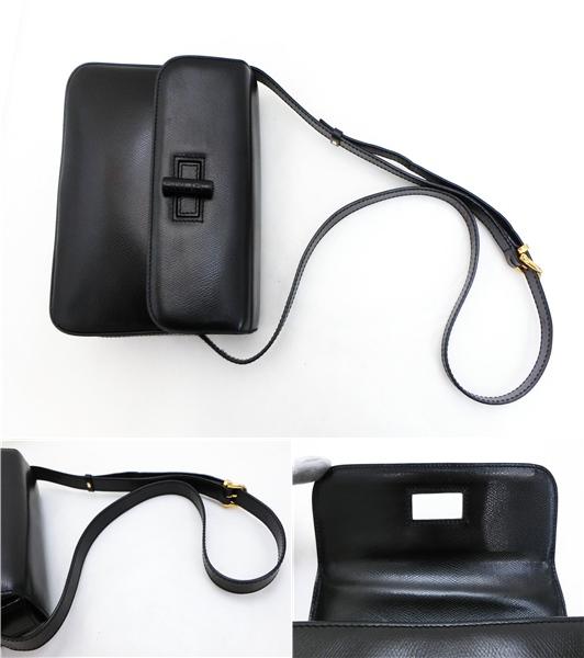 ◆S3060 CELINE セリーヌ ターン ロック金具 ヴィンテージ レザー ショルダー バッグ 美品_画像9