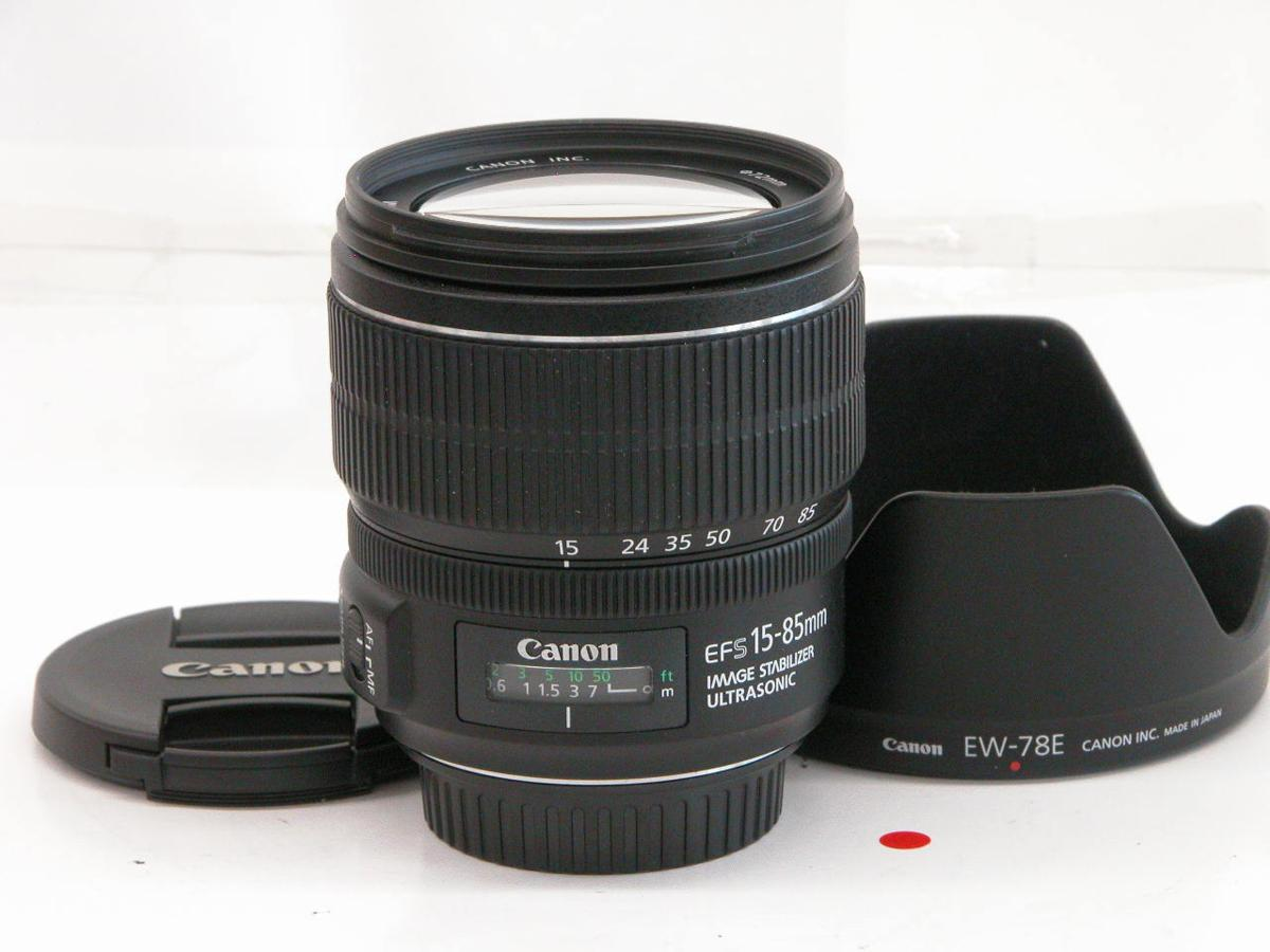 ★☆CANON EF-S 15-85 F3,5-5,6 iS USM (三ヶ月保証) 極上品☆★