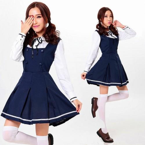紺 ラブライブ風 ワンピース コスプレ衣装 【 同梱可能 | 即納】 グッズの画像