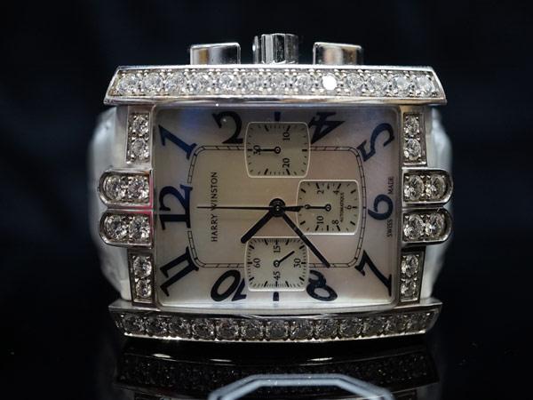 ハリーウィンストン 純正ダイヤ アベニュークロノ 時計 WG_画像1