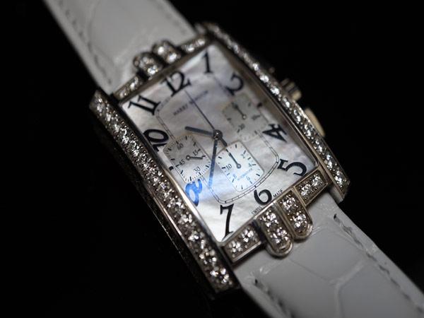 ハリーウィンストン 純正ダイヤ アベニュークロノ 時計 WG_画像2
