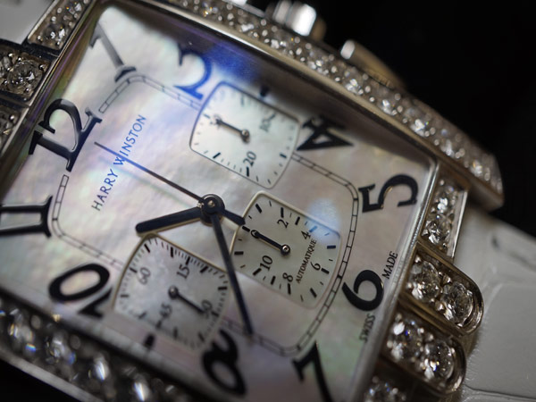 ハリーウィンストン 純正ダイヤ アベニュークロノ 時計 WG_画像8