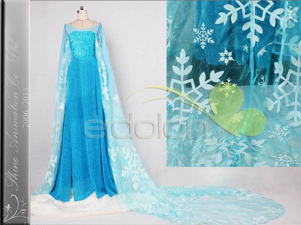Frozen アナと雪の女王 エルサ コスプレ衣装 ディズニーグッズの画像
