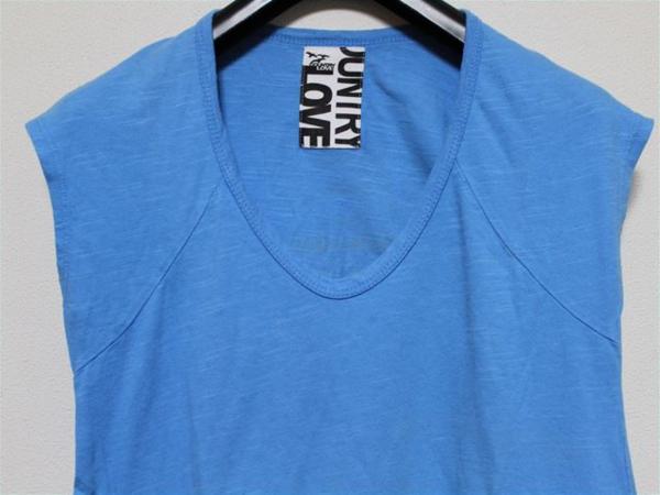 カントリーラブ Country Love レディース半袖Tシャツ ブルー 新品_画像2