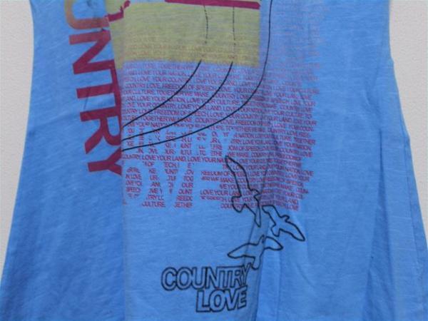 カントリーラブ Country Love レディース半袖Tシャツ ブルー 新品_画像6