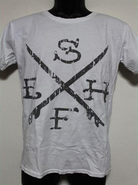 エドハーディー ED HARDY メンズ半袖Tシャツ ホワイト Sサイズ UR114 新品_画像1