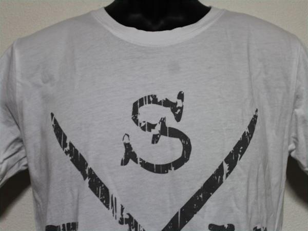 エドハーディー ED HARDY メンズ半袖Tシャツ ホワイト Sサイズ UR114 新品_画像2