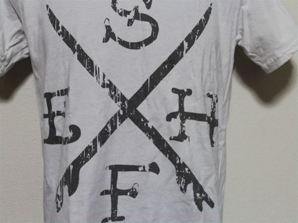 エドハーディー ED HARDY メンズ半袖Tシャツ ホワイト Sサイズ UR114 新品_画像3