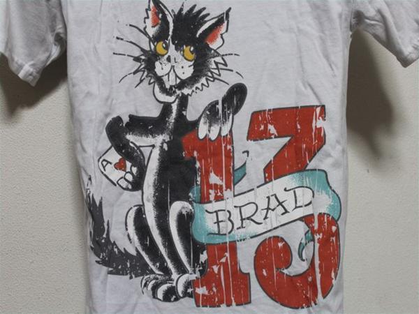 エドハーディー ED HARDY メンズ半袖Tシャツ ホワイト Sサイズ UR114 新品_画像6