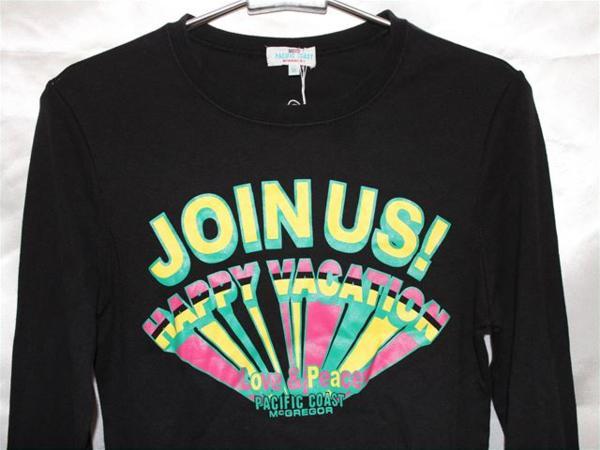 パシフィックコースト PACIFIC COAST レディース長袖Tシャツ Mサイズ ブラック 新品_画像2