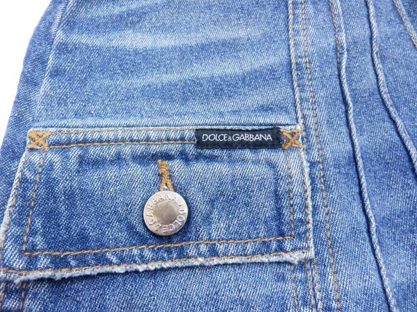 ドルチェ&ガッバーナ デニム スカート ロゴ付き 38 ミニスカート 未使用品_画像3