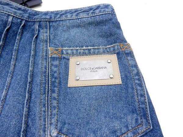 ドルチェ&ガッバーナ デニム スカート ロゴ付き 38 ミニスカート 未使用品_画像4