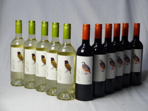 チリ白赤ワイン11本セット デル・スール カルメネール ミデ_画像1