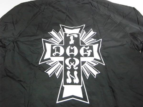 JB即決 DOGTOWN ドッグタウン クロスロゴ コーチジャケット 黒 Lサイズ 新品 マイクミュアー REDDOG VENICE_バックプリント!ドッグタウン