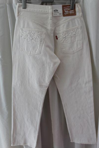 リーバイス Levi's レディース デニムパンツ 501 ホワイト ジーンズ 27インチ 新品_画像6