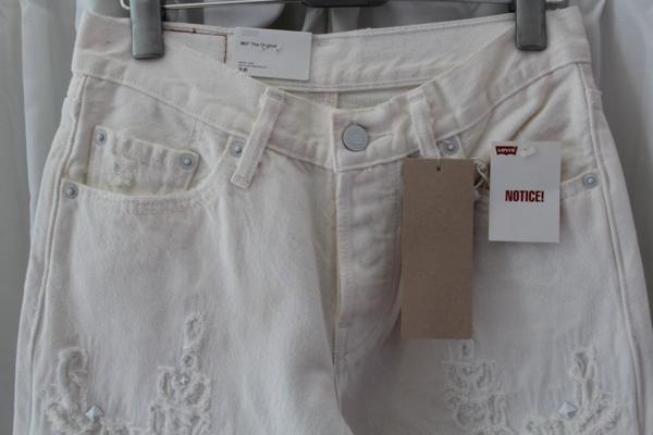 リーバイス Levi's レディース デニムパンツ 501 ホワイト ジーンズ 27インチ 新品_画像2
