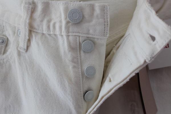リーバイス Levi's レディース デニムパンツ 501 ホワイト ジーンズ 27インチ 新品_画像3