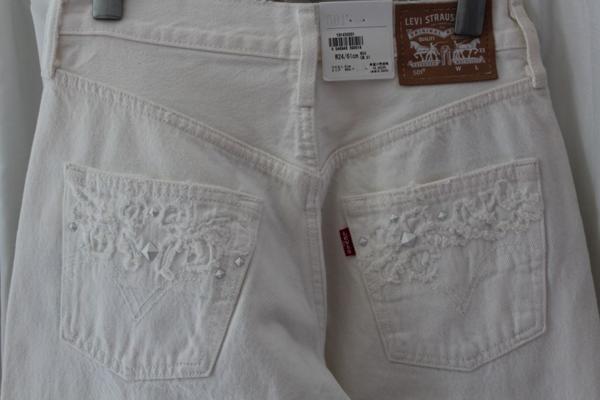 リーバイス Levi's レディース デニムパンツ 501 ホワイト ジーンズ 27インチ 新品_画像7