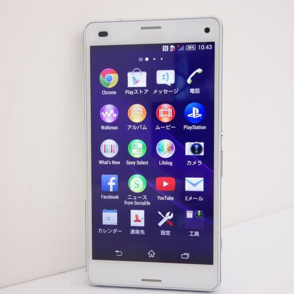 4G LTE【SIMフリー】Sony Xperia Z3 Compact★超美品★White