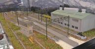 【SAZAN】鉄道ジオラマ展示台(セクション)複線 ヤード周辺 90x30cm★小1