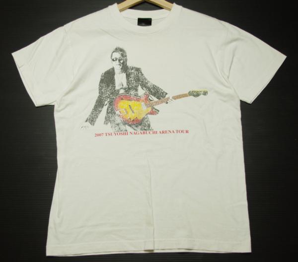 長渕剛 2007 ARENA TOUR COME ON STAND UP! 半袖プリントTシャツ 白 メンズ ツアーグッズ