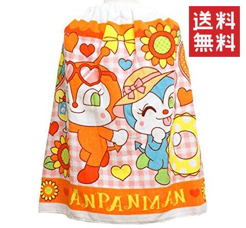 ◆20 アンパンマン プール用 巻きタオル ( マキタオル ) ドキンちゃん(50×100cm) 送料無料 グッズの画像