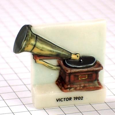 限定フェーブ◆ビクター蓄音機グラモフォン音楽音響機器ガレット