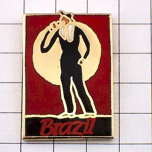 限定レア◆ピンバッジ◆音楽ブラジルの歌手ピンズフランス