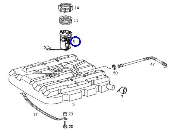 Pierburg(ピアブルグ)製 フューエルポンプ 燃料ポンプ(パッキン付) ベンツ W638 Vクラス V200 V230 V280 (638-470-0794 + 638-471-0479)_画像3
