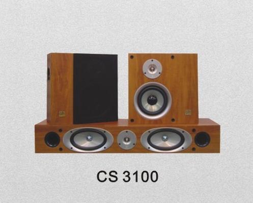 おしゃれな薄型スピーカー&センタースピーカー CS3100_センタースピーカー付き