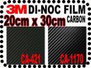 3M™ ダイノックカーボン黒2種CA421CA1170【20*30cm】