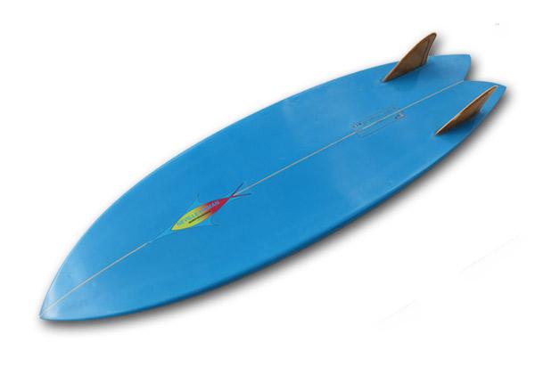 【中古】NEVサーフボード 5'10(178cm)Fish/TWINウッドキールFIN_画像3