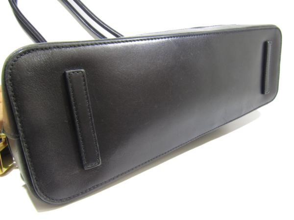プラダ PRADA ナイロン アルマ型 トート バッグ セミショルダー カデナ付 黒_画像5