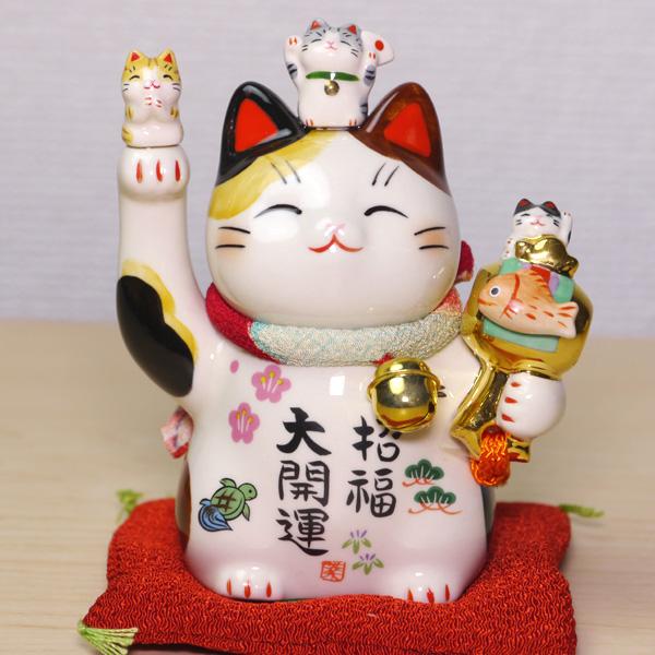 ☆新品☆招き猫 招福大開運☆高さ/約11.5cm(4号)